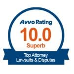 Highest Attorney Rating from Avvo